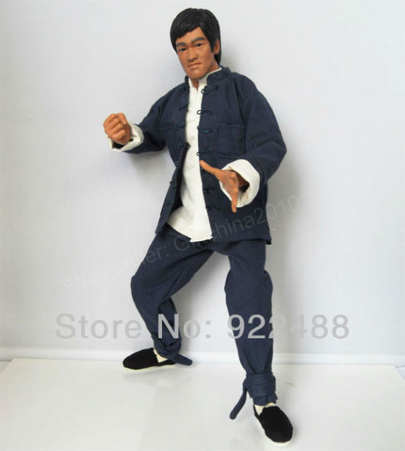 df5cc36f9d7 Free shipping Bruce Lee 1 6 custom Kung Fu suit ENTER THE DRAGON for Hot  toys Enterbay figure(not include Bruce Lee figure)