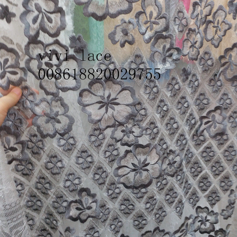 5yards mx117 3d best quality  tense  embroidery french net tulle mesh lace for wedding/evening dress/party.