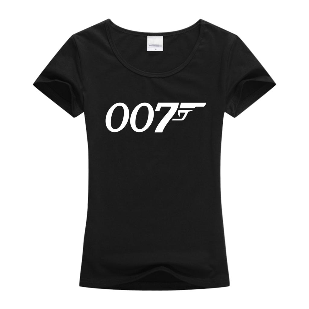 2016 Fashion top tees 007 women's t shirt black / white / red summer women clothes cotton fitness Short sleeve t-shirt for women