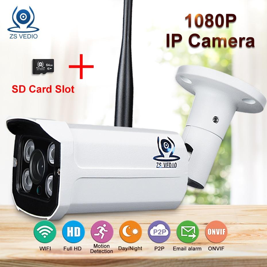 ZSVEDIO Surveillance Cameras ip camera wifi outdoor Waterproof font b wireless b font sd card motion