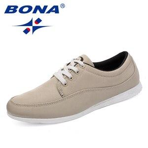 Image 2 - BONA yeni klasik tarzı erkekler rahat ayakkabılar tuval erkek günlük ayakkabı Lace Up erkekler moda Sneakers ayakkabı rahat ücretsiz kargo