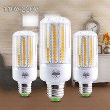 Foxanon E27 LED Lamp SMD5730 220V 110V Corn Bulb 24 30 42 64 80 89 108 136LEDs Bombillas Light Bulbs For Home Decoration Ampoule(China)