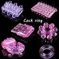 Бесплатная доставка 6 ШТ. различные кольца пениса регулируемый силиконовые кольца петух фантазии презерватив пенис рукава вибратор кольцо секс игрушки для мужчины