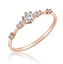 Stylish Fashion Women Ring Finger Rhinestone Crystal Rings