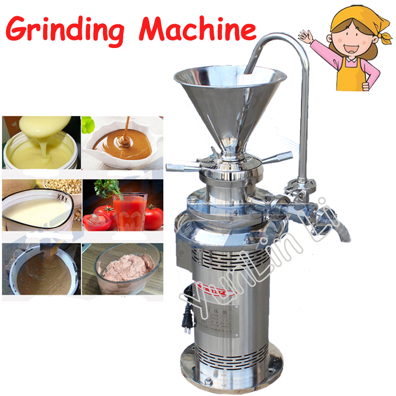 Peanut Milling Machine Colloid Mill Sesame Colloid Mill Peanut Butter Colloid Mill Soybean Grinding Machine JML50 food pharmaceutical industry stainless steel seeds peanut butter sesame paste chilli sauce colloid milling machine