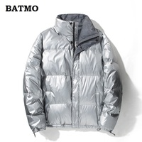 BATMO 2018 new arrival high quality 90% white duck down loose jackets men,men's waterproof warm coat 028