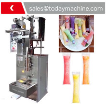 10ml 25ml 50ml automatic small jelly stick packaging liquid lolly ice pop filling and sealing machine liquid ice lolly sealing packaging machinery fruit juice jelly stick bar sachet filling packing