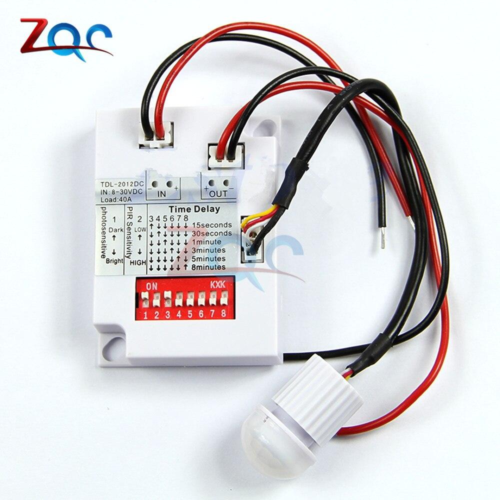 12V 24V 7-10M PIR Motion Sensor Switch IR Infrared Human Body Induction Sensor Detector Switch for LED Light Corridor Aisle Home