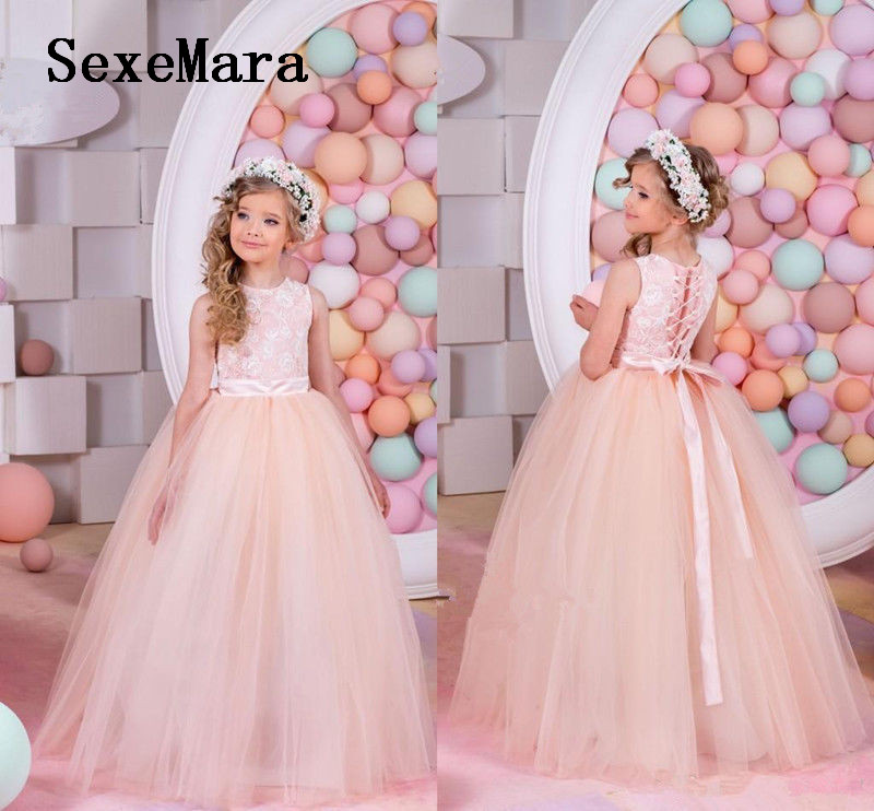NEW Girls Communion Party Gown Princess Lace with Ribbon Pageant Dress Flower Girl Dress for Wedding cerruti 1881 fraicheur d ete pour homme