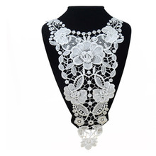 Garment Accessories Lace Cotton Line Polyester Collar Embroidered DIY Ornaments Decals