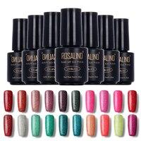 [Poland Group]ROSALIND Fashion Neon Nail Gel Polish Soak Off UV Colorful Nail Colors Art For Gel Nail Polish Long-lasting Gel