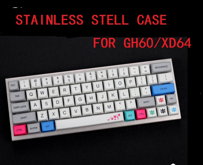 US $33 54 6% OFF stainless steel bent case for xd60 xd64 gh60 60% custom  Mechanical keyboard acrylic panels-in Keyboards from Computer & Office on