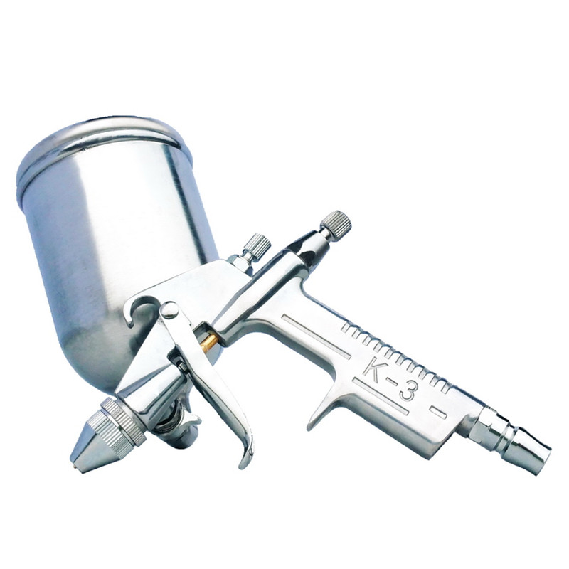 125ml Spray Gun Sprayer Air Brush Aerografo Paint Tool Gravity Feeding Airbrush Gun Penumatic Furniture for Painting Cars-in Spray Guns from Tools