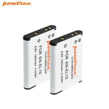 2PCS 3.6V 1200mAh AKKU EN-EL19 EN EL19 ENEL19 Battery For Nikon S2500 S2600 S2700 S3100 S3200 S3300 S3500 S4100 S4150 S6500 L10 nikon coolpix s100 s3100 s4100 digital cameras en el19 battery wall charger with car charger adapter davismax enel19 bundle