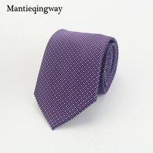 ФОТО exquisite purple striped style polyester silk neckties 8cm skinny business neck tie gravatas corbatas wedding suits ties for men