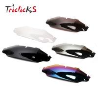 Triclicks 6 Wave Windshield Windscreen Motorcycle Wind Air Deflector Spoiler For Harley Electra Street Glide FLHX
