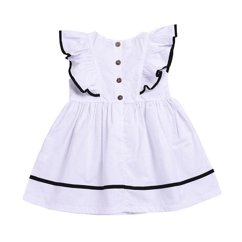 Summer Baby Girls Flare Sleeve Dress Kids Toddler Sleeveless Pageant Sundress US