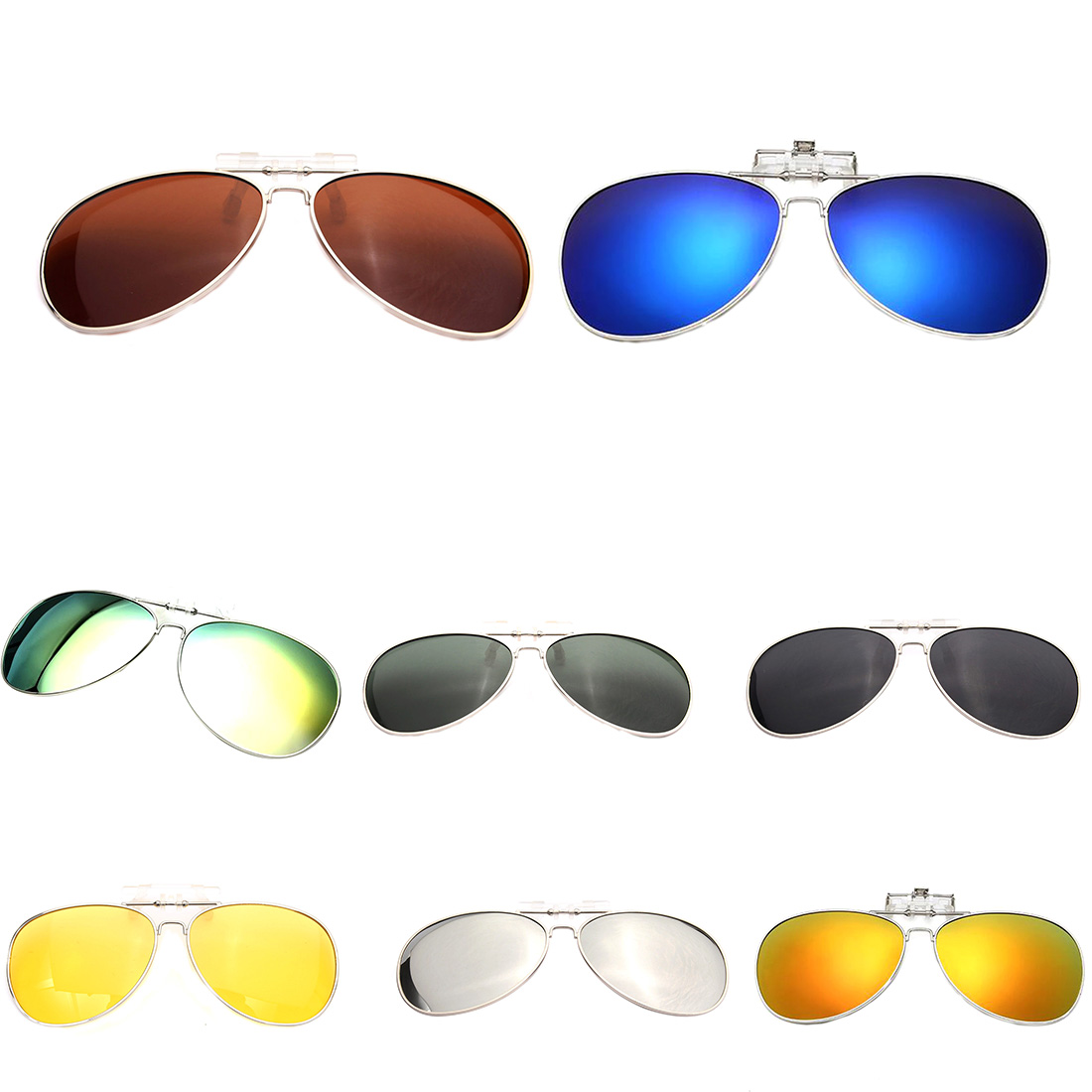 Men Women Polarized Clip On Sunglasses Fishing Night Anti UV Driving Cycling riding Fishing Sun Glasses Clips