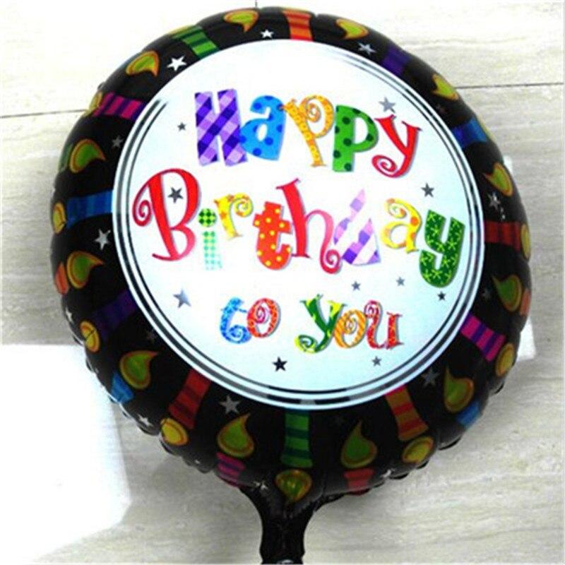 50 pcs/lot black happy birthday balloons bubble Halloween balloons 18 inch round