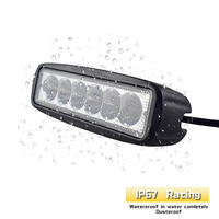 18W Floodlight Light Work LED Driving Fog Lamp Offroad Car Boat LED Work Light For Toyota