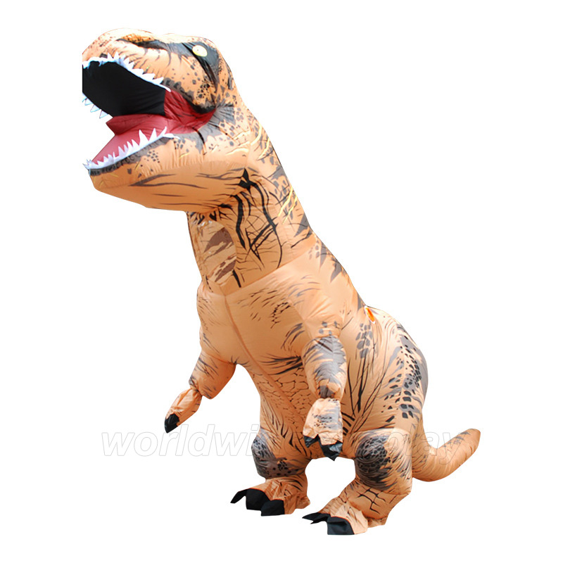 T-REX Inflatable Cosplay Costume Dinosaur Jumpsuit Free Shipping for Halloween and Christmas for Adults and Children