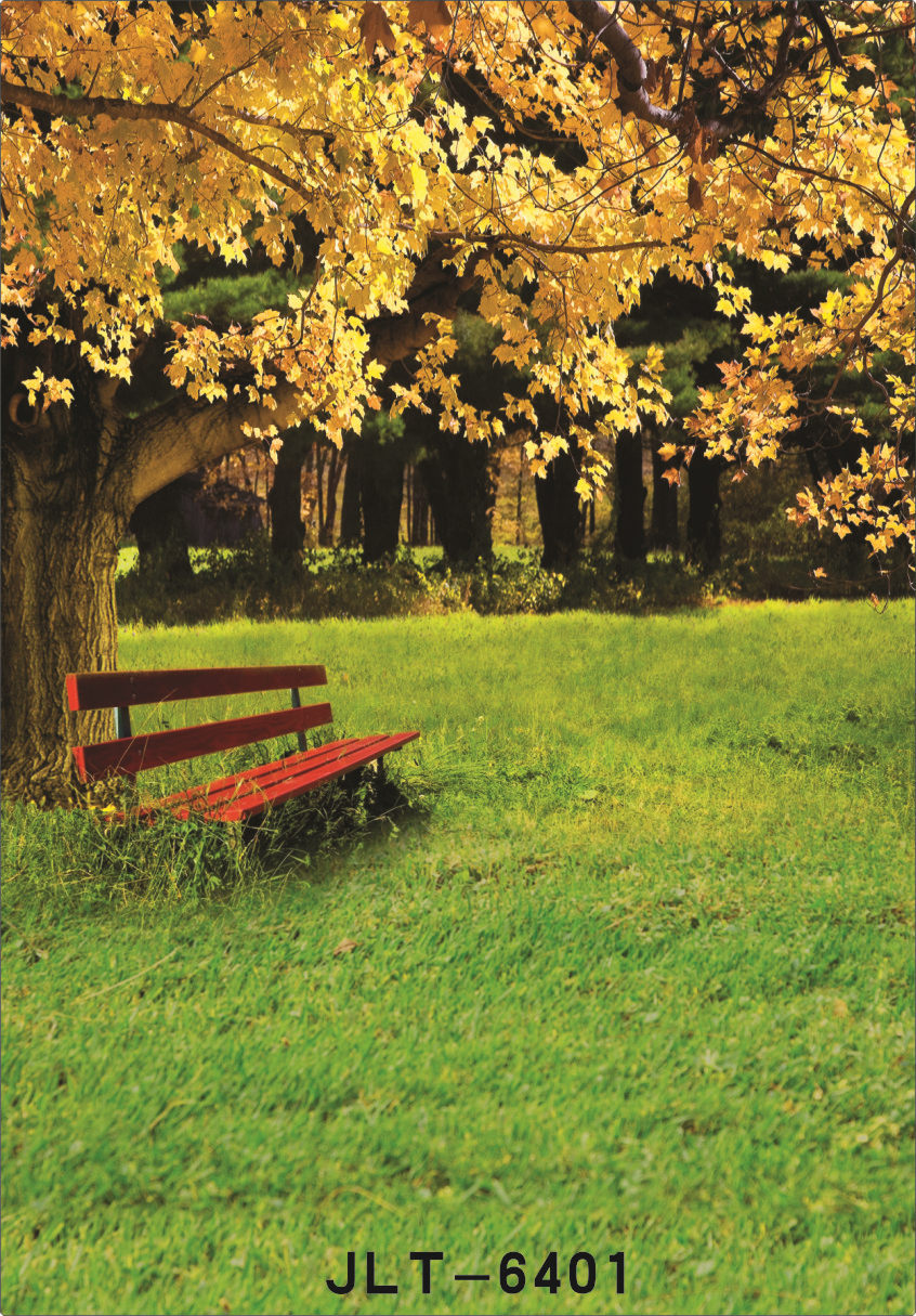 Incredible Us 10 15 25 Off Vinyl Photography Background For Photo Shoots Garden Bench Yellow Tree Children Wedding Photographic Backdrops For Photo Studio In Caraccident5 Cool Chair Designs And Ideas Caraccident5Info