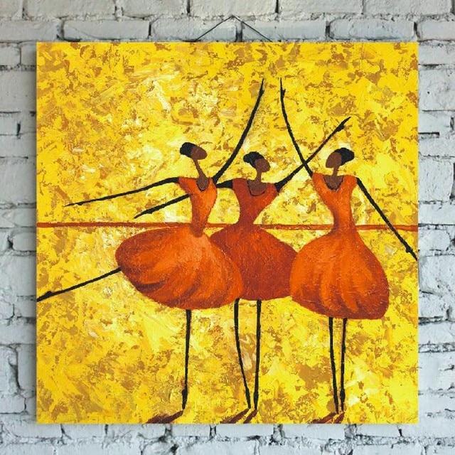 Vaak Abstracte Schilderijen Vrouwen Cartoon Olieverfschilderij Wall Art @OR64