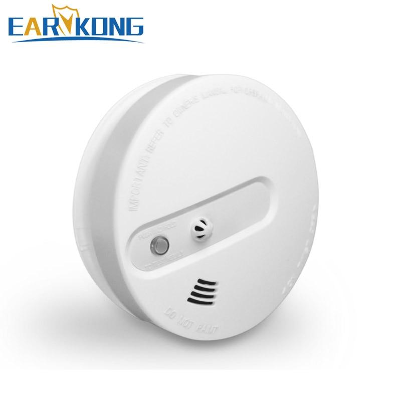 NEW Earykong Smoke Fire Detector Wireless 433MHz, Inside Photoelectronic Temperature Sensor, Security alarm 2  years warranty