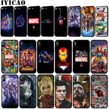 Vingadores endgame marvel homem de ferro thanos macio caso de telefone para o iphone xr x xs 11 pro max 6 s 7 8 plus 5 5S se tom holland capa(China)