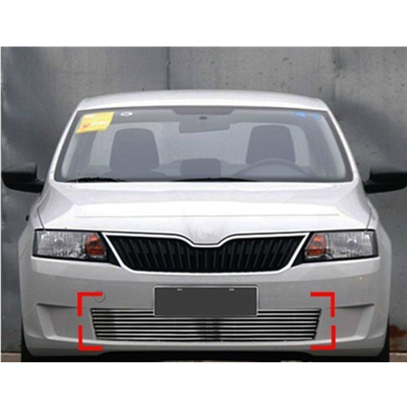 High quality stainless steel Front Grille Around Trim Racing Grills Trim For 2013 Skoda Rapid abs chrome front grille around trim racing grills trim for 2013 hyundai santa fe ix45