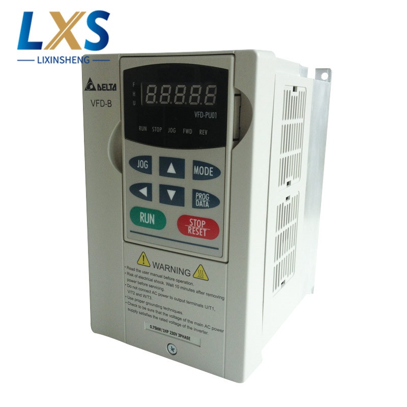 3 Phase Delta Inverter AC Motor VFD007B23A 3PH 0~240V 5.0A 1.9KVA 1HP Frequency Drive