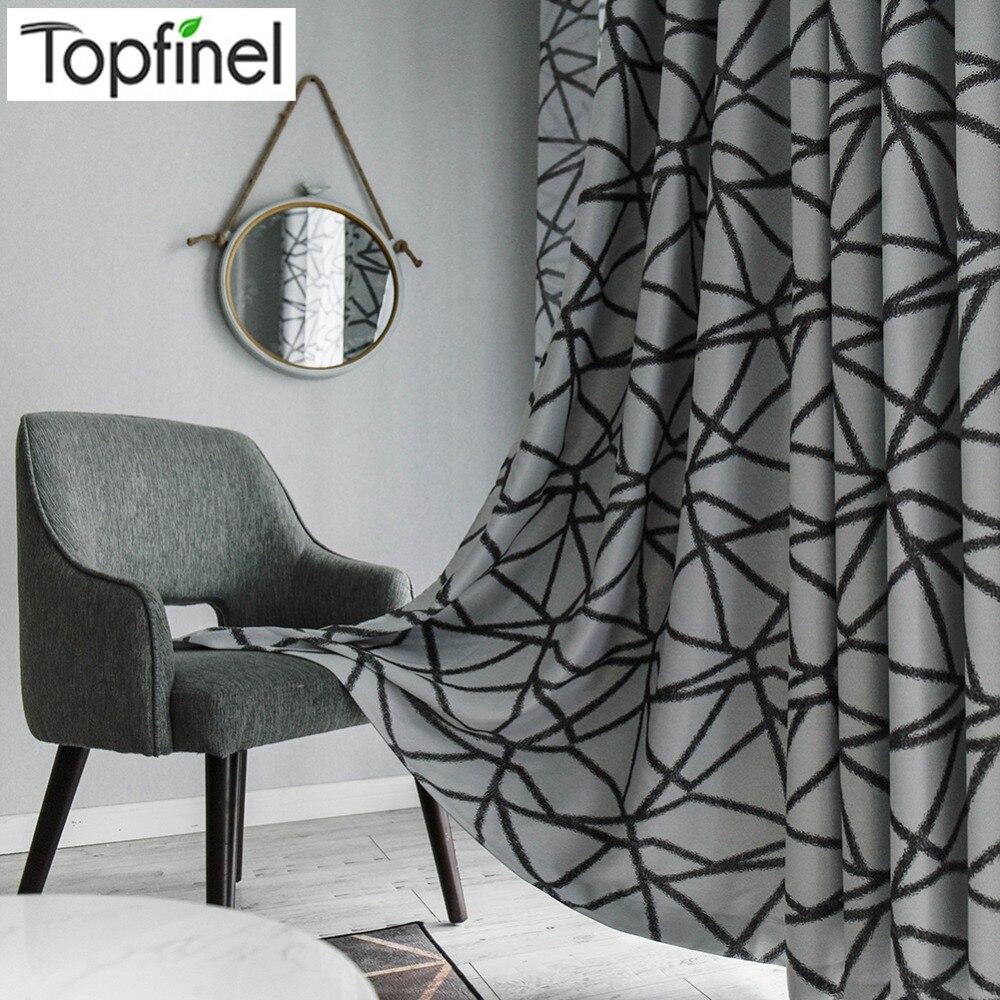 Topfinel neravne črte toplotno izolirana črna okna, obdelava - Domači tekstil