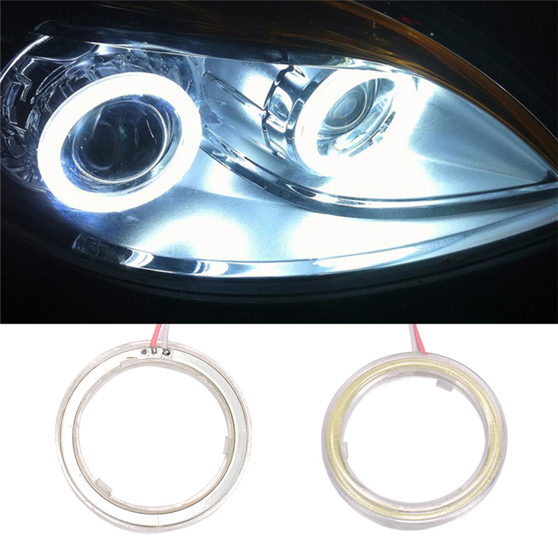 1 Pair Angel Eye Auto Halo Rings Angel Eye COB Chips Headlight 60mm 90mm 120mm Cars Angel Eyes Motorcycle Car DRL J3 пол даусвел напиши свою книгу приключений