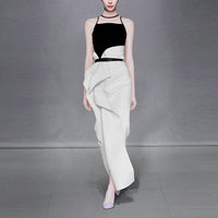 2017 Summer New Women's Fashion Ladies Sets Temperament Two Piece Strapless Tops Skirts Dress in Summer