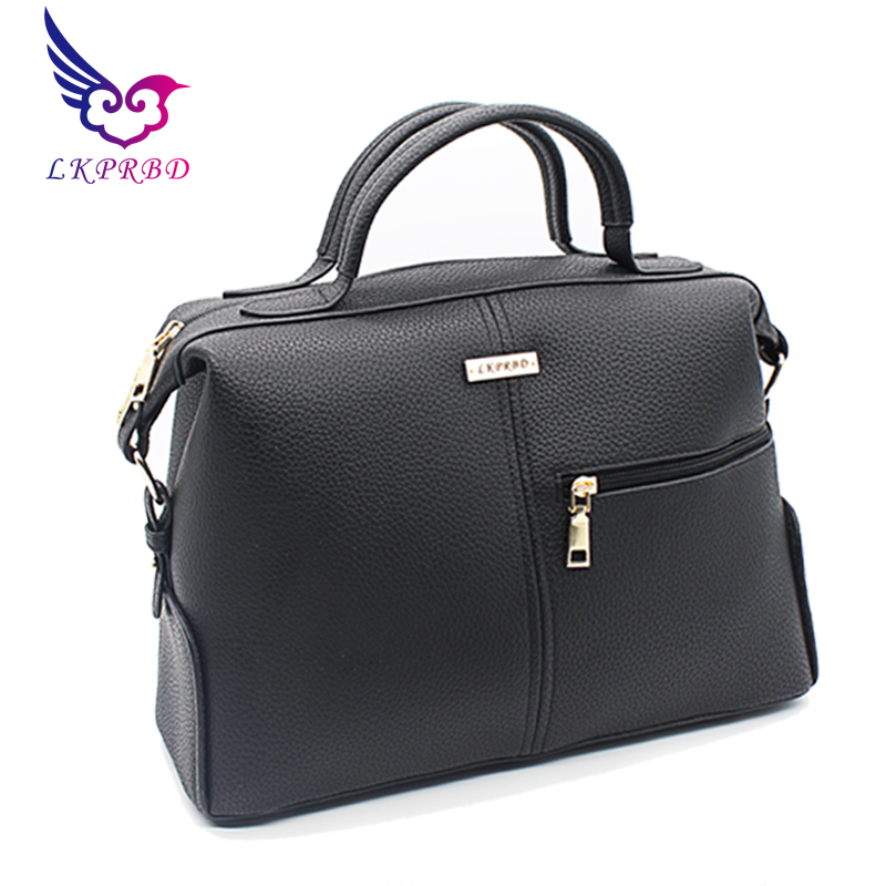 LKPRBD 2018 NEW Hot Sale Women Bag Fashion PU Leather Women's Handbags Bolsas Top-Handle Bags Tote Women Shoulder Messenger Bag hot sale 2016 france popular top handle bags women shoulder bags famous brand new stone handbags champagne silver hobo bag b075