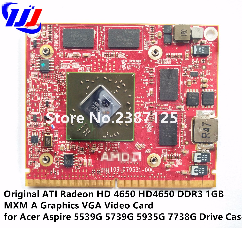 Original A T I Radeon HD 4650 HD4650 DDR3 1GB MXM A Graphics VGA Video Card for A c er Aspire 5539G 5739G 5935G 7738G Drive Case est for a c e r aspire 5920g 5920 5520g 5520 mxm ii ddr2 1gb graphics vga video card replace n v i d i a geforce 9650m gt