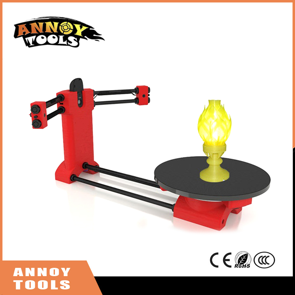 High quality 3d scanner DIY kit, Open source 3D scanner, Red plastic injection molding parts scanner