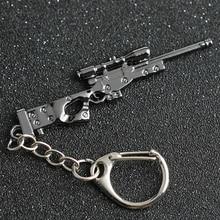 Keychain Weapon-Counter Fire-Keyring Pubg-Jewelry CSGO AWP Sniper CF Rifle-Gun Strike-Cross