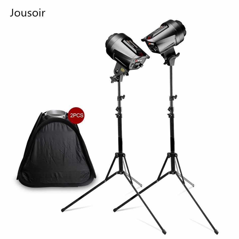 Alta Velocidade de 5500 k 255WX2 Bowens Monte Stepless Escurecimento Lanterna + StandX2 + CD50 Softbox2 Para equipamentos de Câmera de Fotografia de Estúdio