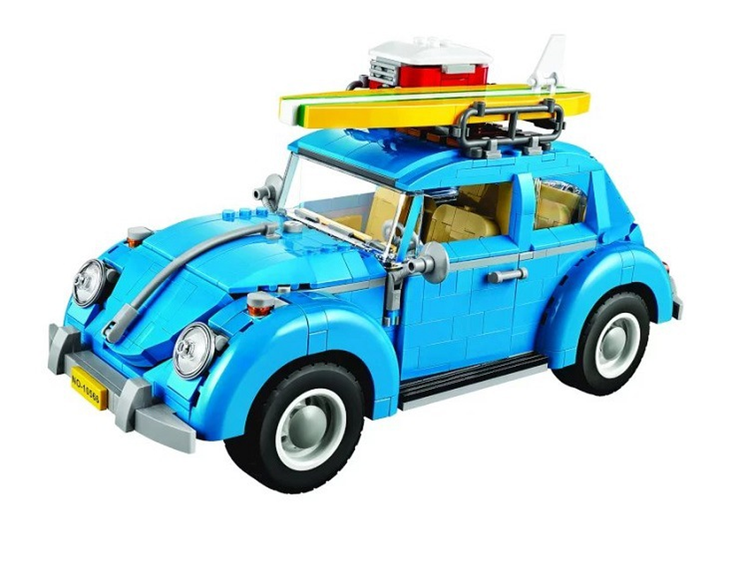 10252 Techinc Series Compatible Legoings Car Volkswagen Beetle model Building Blocks Bricks Toys For Children 10566 21003 Gifts gonlei 10566 series volkswagen beetle model sets building kit blocks bricks toy compatible with