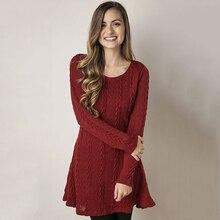 Slim Sweater Dress Women Long Sleeves Vestidos Mujer O Neck Mini Dress A Line Vestido De Festa Plus Size Robe Femme