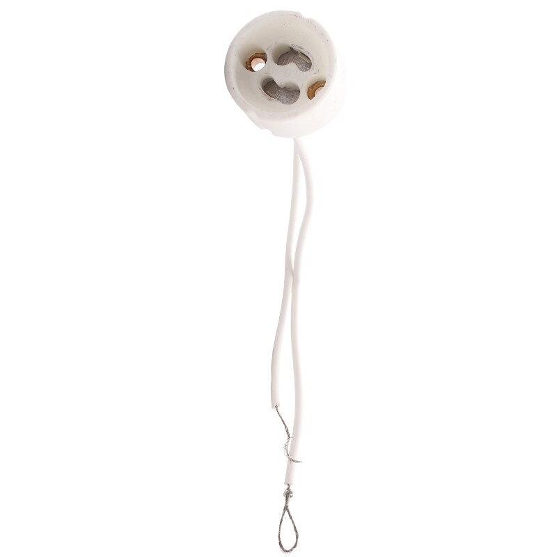 1PCS LED Strip Connector GU10 Socket For Halogen Ceramic Light Bulb Lamps Holder Base Wire Connector Lamp Holder