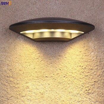 IWHD Luar Pencahayaan Tahan Air IP65 LED Dinding Cahaya Gerbang Blacony Halaman Lampu Teras Taman Buitenverlichting 4 W LED Eksterior