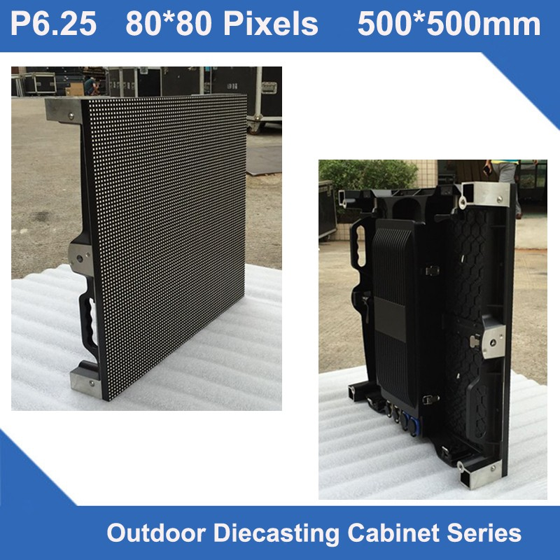 TEEHO HOT SALE led cabinet outdoor P6.25 Outdoor Diecasting Cabinet panel 500mm*500mm ultra slim advertising led display sign|LED Displays|Electronic Components & Supplies - title=