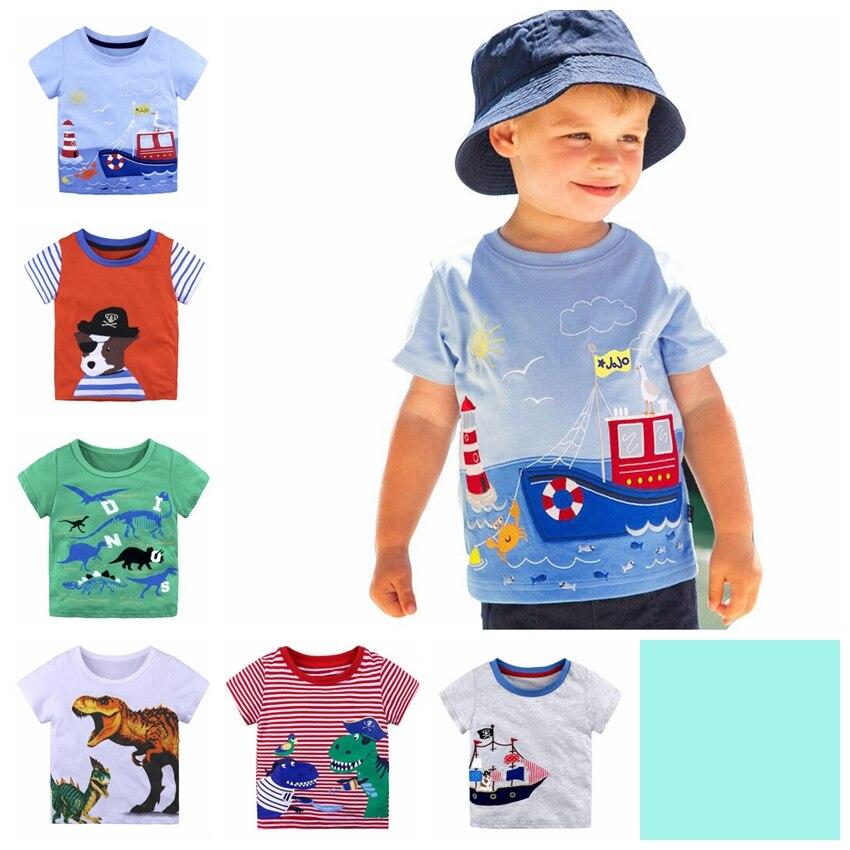 Boy Children's t-Shirt Tee-Tops Short-Sleeve Graffiti-Print Baby-Girls Kids Cotton Summer