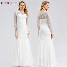 Robe De Mariage Sirene Ever Pretty White Lace Wedding Dresses O-Neck 3