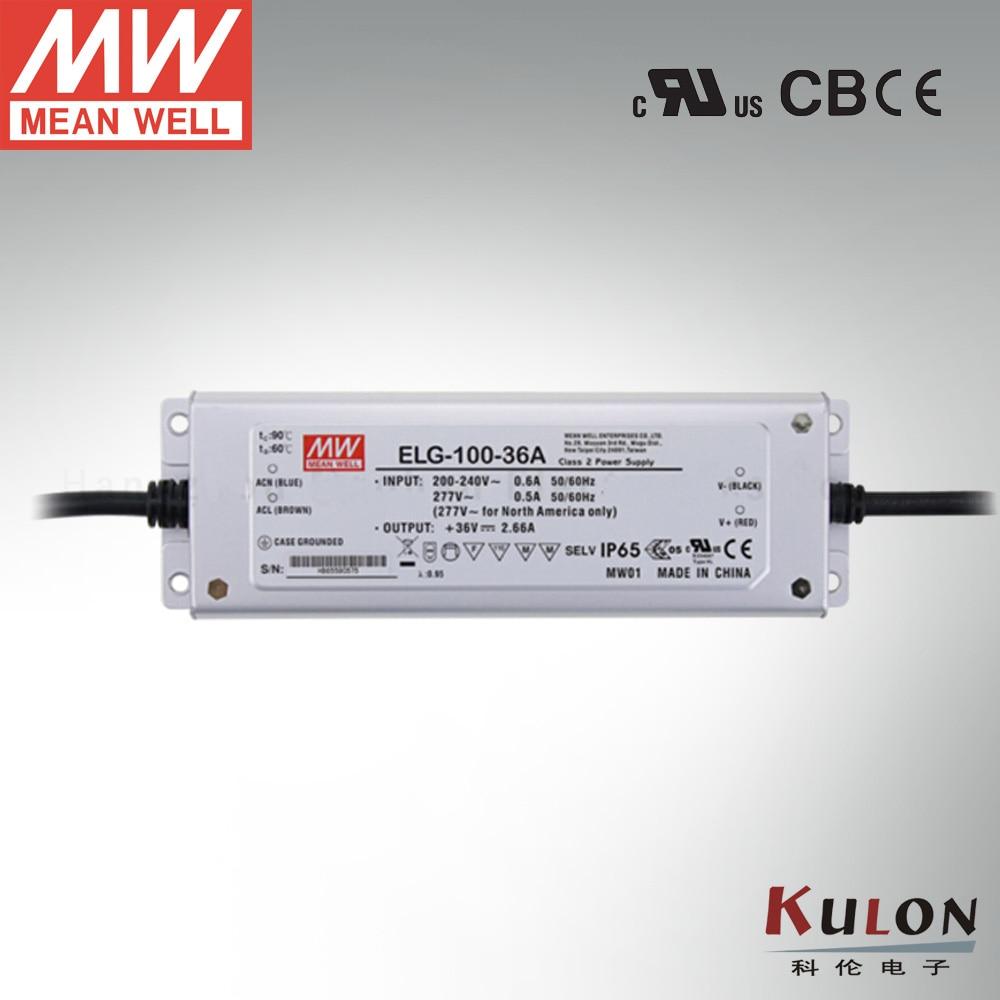 Genuine Meanwell Power Supply ELG-100-36B 96W 2.66A 36V dimming LED driver genuine meanwell driver elg 100 48a 96w 2a 48v adjustable led power supply