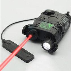 Original FMA Tático Militar Airsoft AN/PEQ-15 Caixa de Bateria Do Laser Red Dot Laser Com Lanterna LED Branco e IR lente Tan/BK