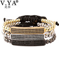 3Color Bracelets Bangles Luxury Rope Chain Lace-up Bracelet for Woman Man DIY Beads Charm