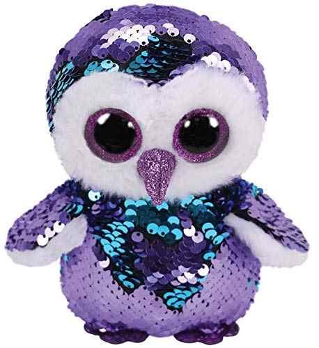 15CM Hot Ty Beanie Boos Big Eyes Blue Sequin Owl Dog Unicorn Bat Alpaca  Snowman Plush 8ab4d574377f
